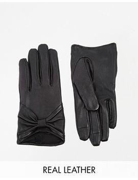 asos---gants-en-cuir-pour-écran-tactile-avec-nœud by asos-collection