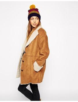 asos---manteau-en-fausse-fourrure-et-peau-retournée-vintage by asos-collection