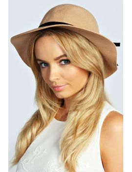 victoria-small-floppy-hat-with-velvet-trim by boohoo