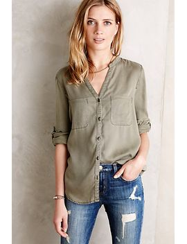 sageleaf-buttondown by anthropologie