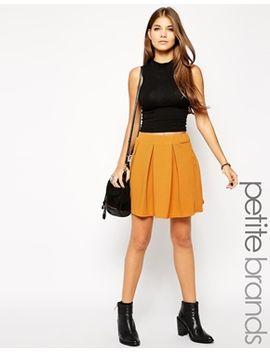 glamorous-petite-textured-jersey-box-pleat-skirt by glamorous-petite