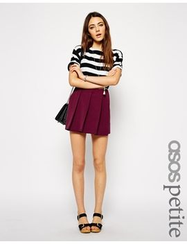 asos-petite-bold-pleated-skort by asos