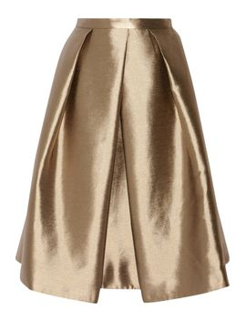 halcyon-metallic-pleated-taffeta-skirt by tibi