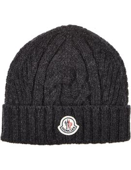 cable-knit-beanie by moncler
