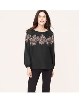 placed-floral-peasant-blouse by loft