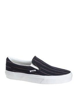 unisex-vans®-for-jcrew-classic-slip-on-shoes-in-pinstripe-wool by unisex-vans