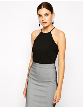 bardot-crop-top-with-high-neck by bardot