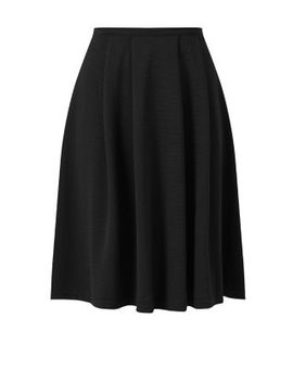 black-waffle-texture-midi-skirt by new-look