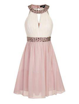 little-mistress-petite-embellished-halterneck-prom by dorothy-perkins