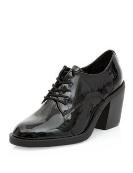 black-patent-lace-up-shoe-boots by new-look