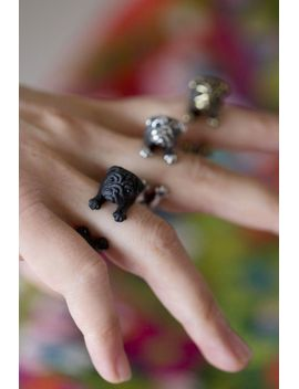yacikopo-handmade-pug-dog-ring-black-_-silver-_-golden by yaci