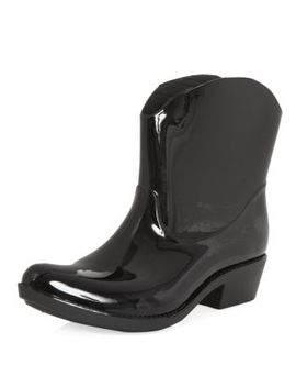 black-patent-cowboy-wellies by new-look