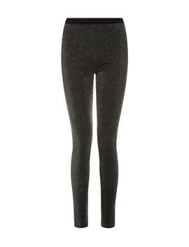 black-glitter-leggings by new-look