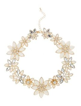 pink-flower-collar-necklace by new-look