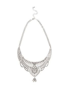 silver-filigree-bib-necklace by new-look