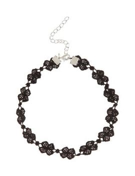 black-crochet-floral-choker by new-look