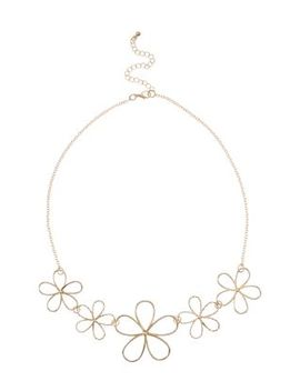 gold-daisy-wire-necklace by new-look