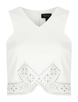pretty-lace-trim-crop-top by topshop