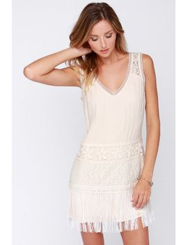 begin-to-bo-hope-cream-fringe-dress by lulus
