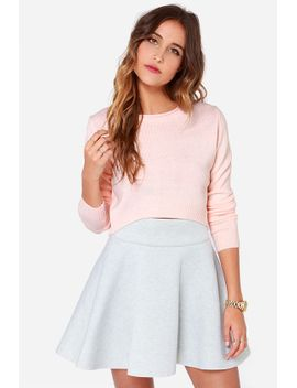 as-if-peach-cropped-sweater by lulus