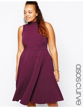 asos-curve-midi-dress-with-high-neck by asos-curve