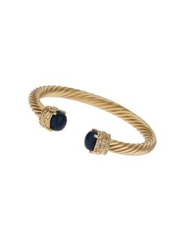 lapis-stone-twist-cuff by topshop