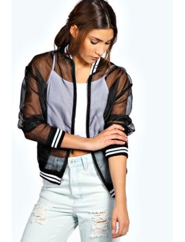 alma-sheer-bomber-jacket by boohoo