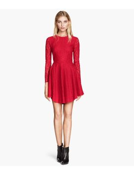 circular-lace-dress by h&m