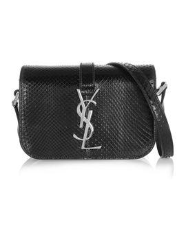 monogramme-sac-université-small-glossed-python-shoulder-bag by saint-laurent