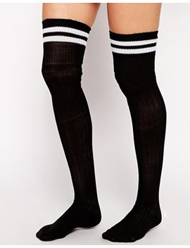 asos-2-stripe-over-the-knee-socks by asos-collection