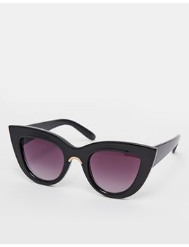 asos-flat-top-cat-eye-sunglasses-with-metal-nose-insert by asos-collection