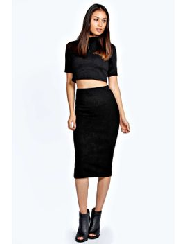 aliyah-knitted-midi-bodycon-skirt by boohoo