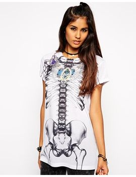 asos-halloween-t-shirt-with-jewelled-skeleton-print by asos-collection