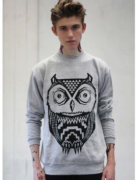 art-disco-aztec-owl-sweatshirt* by topman