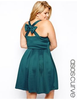 asos-curve-skater-dress-with-bow-back by asos-curve