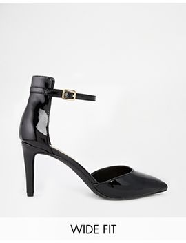 new-look-wide-fit-perform-black-two-part-heeled-shoes by new-look