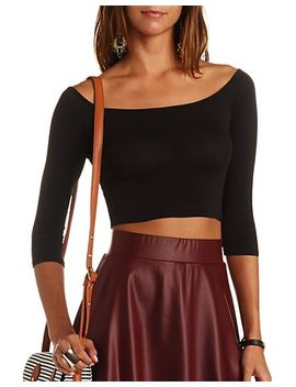 boat-neck-cotton-crop-top by charlotte-russe