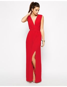 love-plunge-neck-maxi-dress-with-wrap-belt by love
