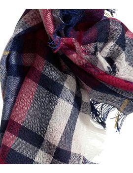 plaid-wool-scarf by h&m