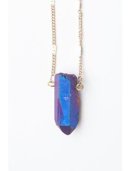 blue-stone-necklace by brandy-melville