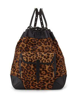 grayson-leopard-print-calf-hair-backpack by rag-&-bone