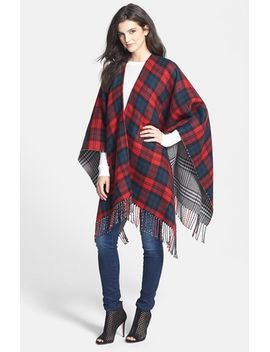 double-plaid-reversible-ruana by accessory-street