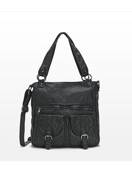 faux-leather-messenger-bag by garage