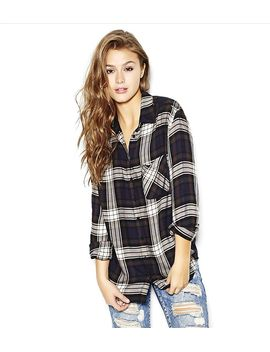 super-soft-plaid-boyfriend-shirt by garage