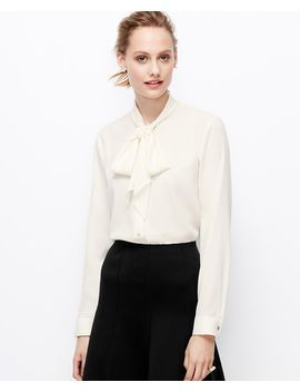 crepe-tie-neck-blouse by ann-taylor