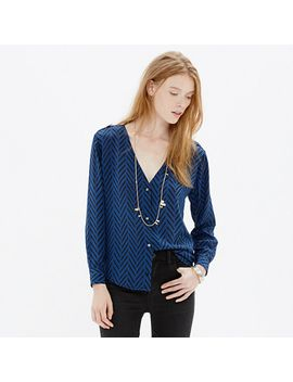 madewell-et-sézane®-silk-blouse-in-chevron-sketch by madewell