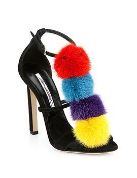 genie-suede-&-mink-fur-sandals by brian-atwood