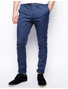 asos-skinny-chinos-in-blue by asos
