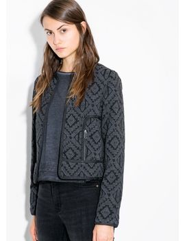 ethnic-cotton-blend-jacket by mango