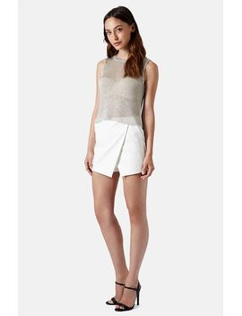 metallic-knit-tank by topshop